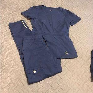 Jaanuu Scrub Set Size Xs Skinny zip Scrub  Xs 💕
